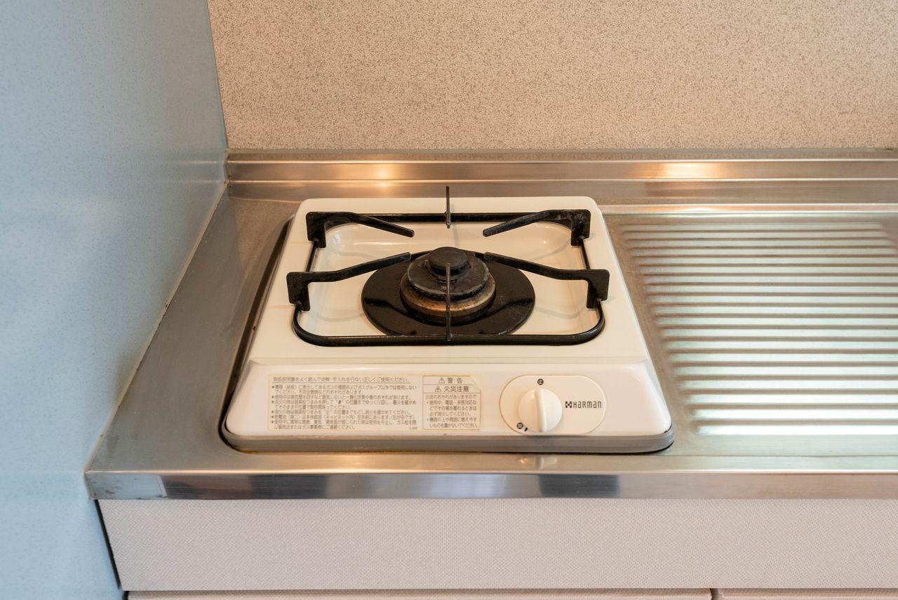 キッチンの1口ガスコンロ