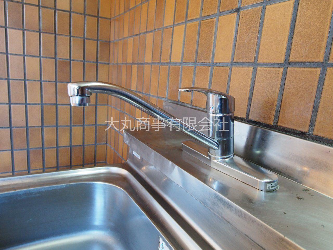 湯水の切り替えが簡単なワンレバー式水栓