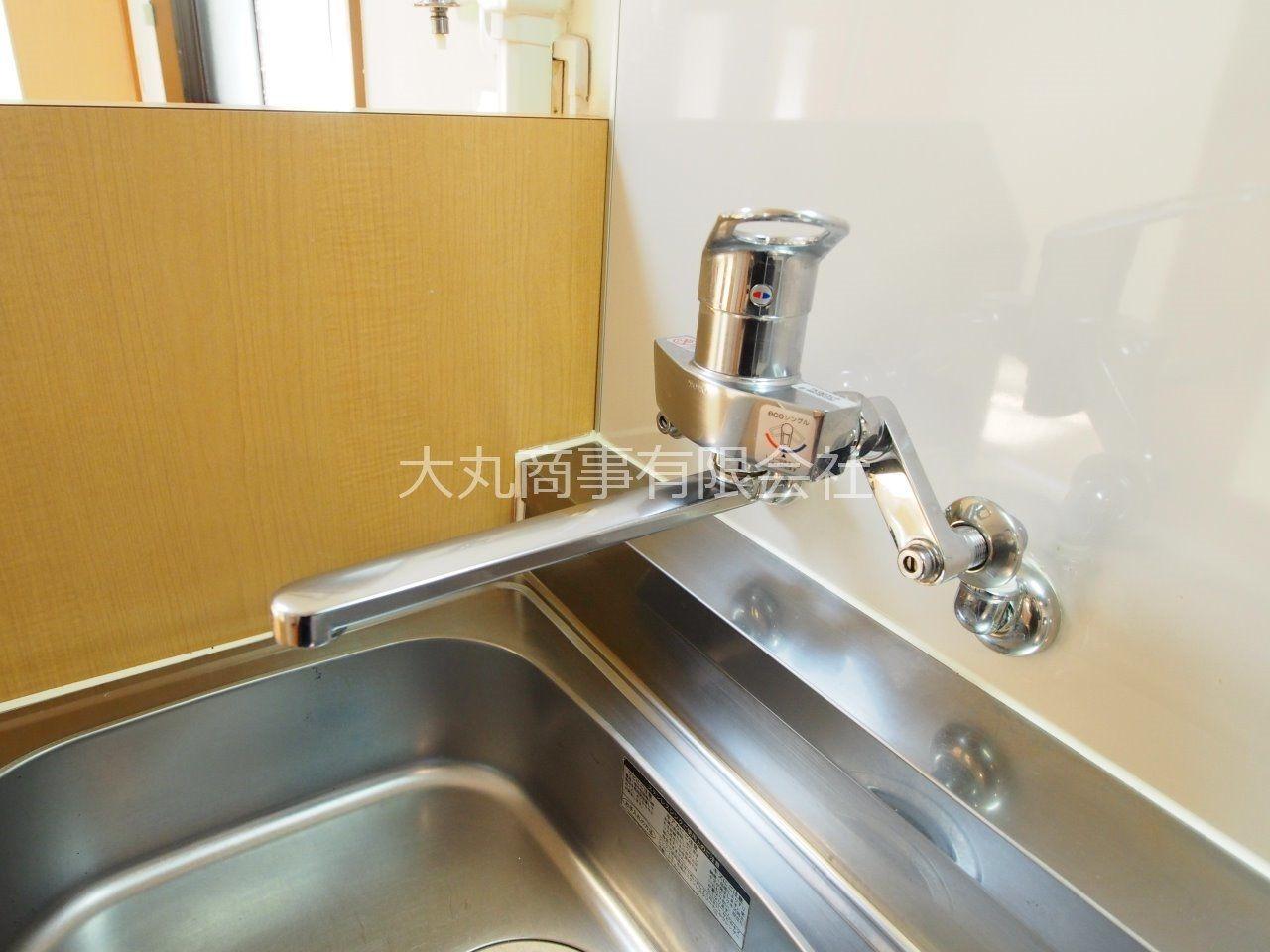 ワンレバー式で湯水の切り替えがラクラク