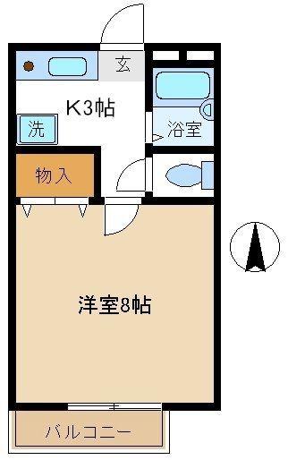 8帖洋室のある、南向きのお部屋
