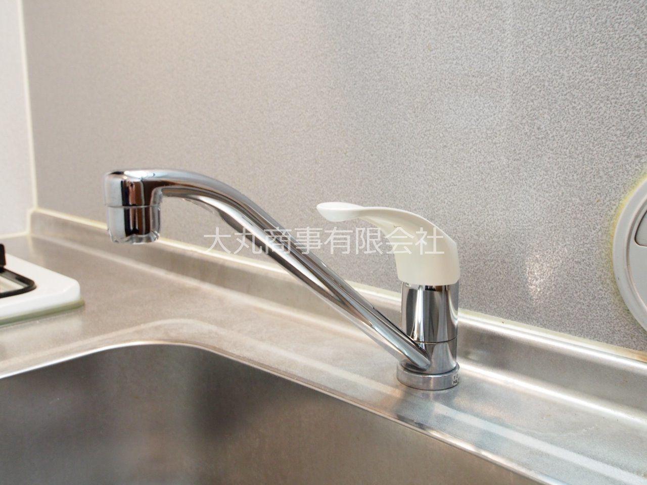 ワンレバー式の使いやすい水栓蛇口