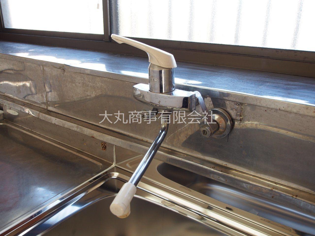 何かと便利なワンレバー式水栓を採用