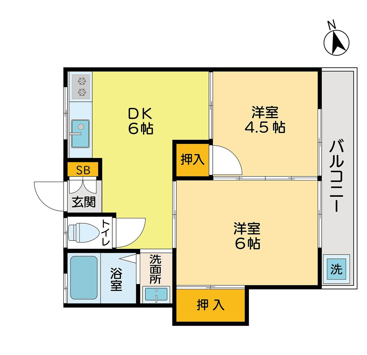 立川市柴崎町の2DKアパート