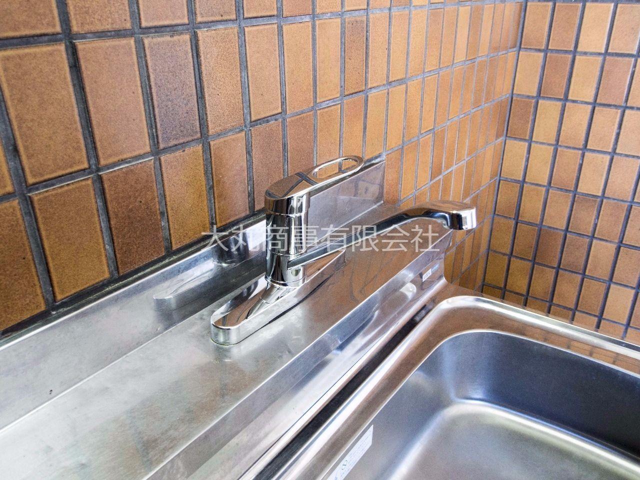 湯水の切替・水量調整などが簡単にできるワンレバー式水栓