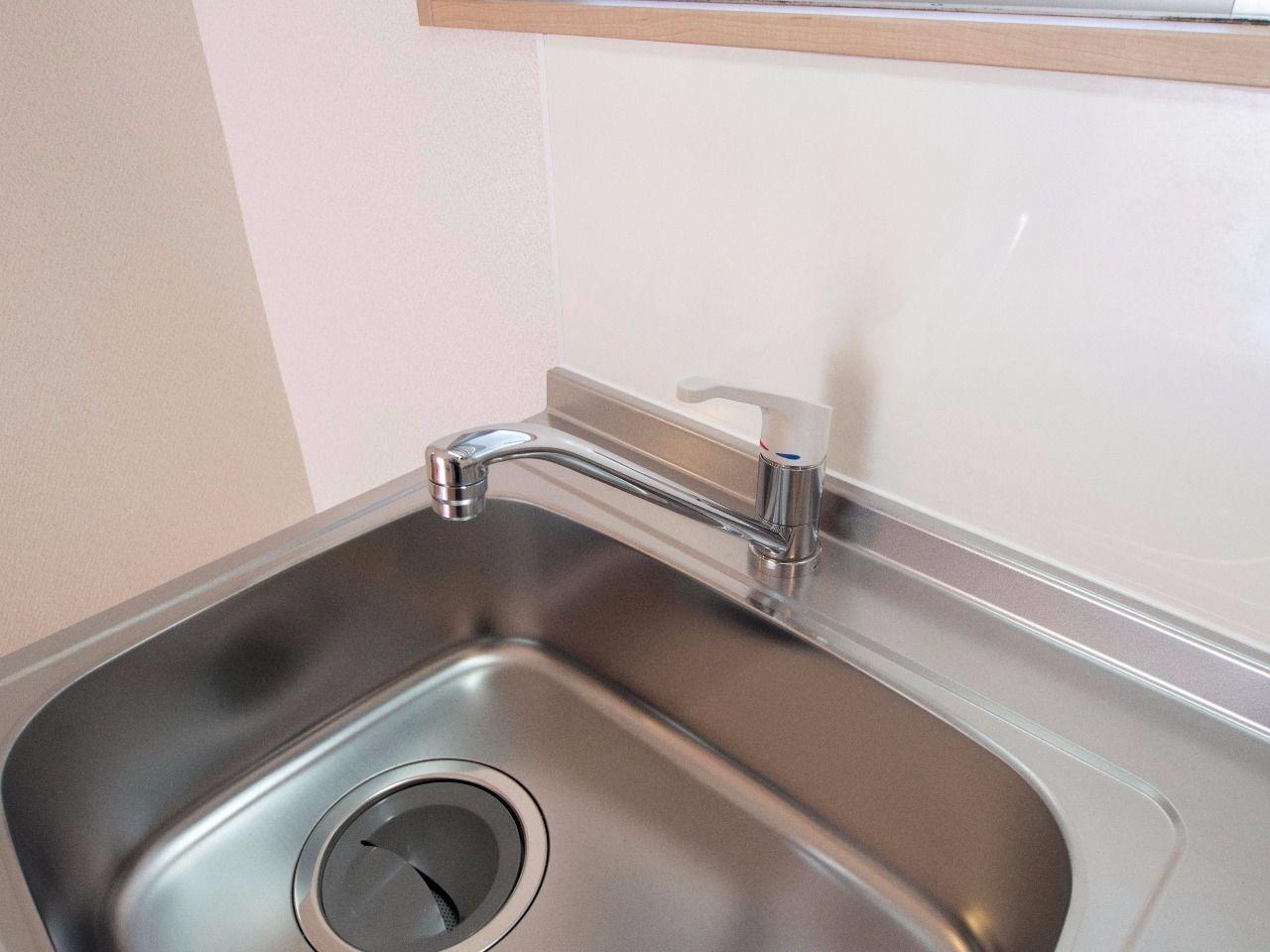 水量・水温の調節が楽にできるワンレバー式の水栓蛇口