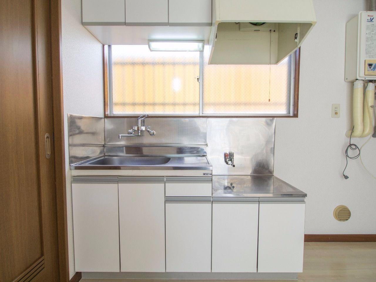 2口ガスコンロ対応のキッチン
