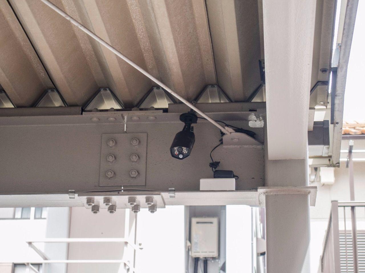セキュリティーに配慮した防犯カメラ