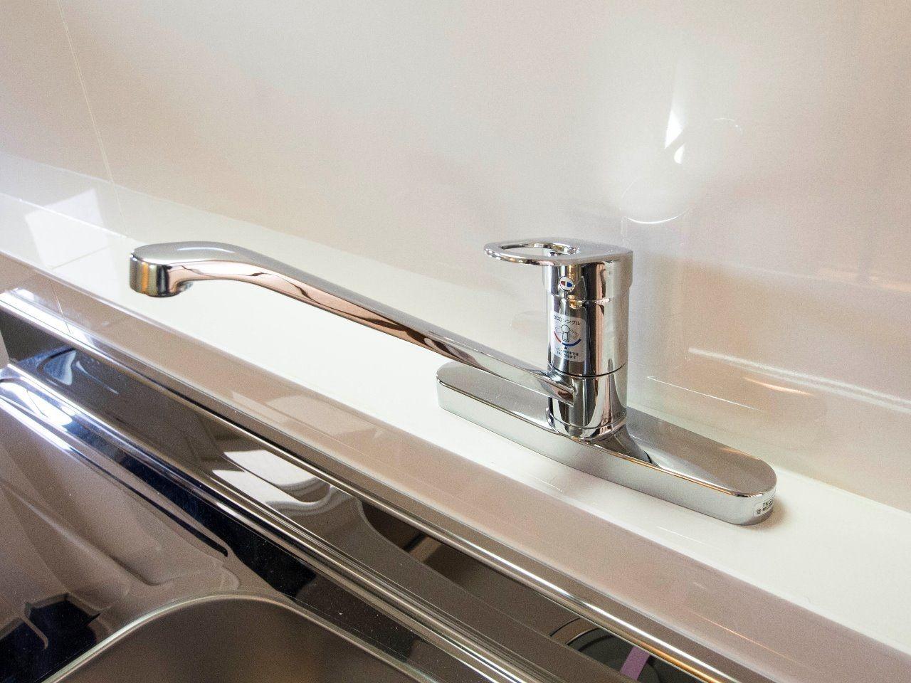 ワンレバー式で便利なキッチンの水栓