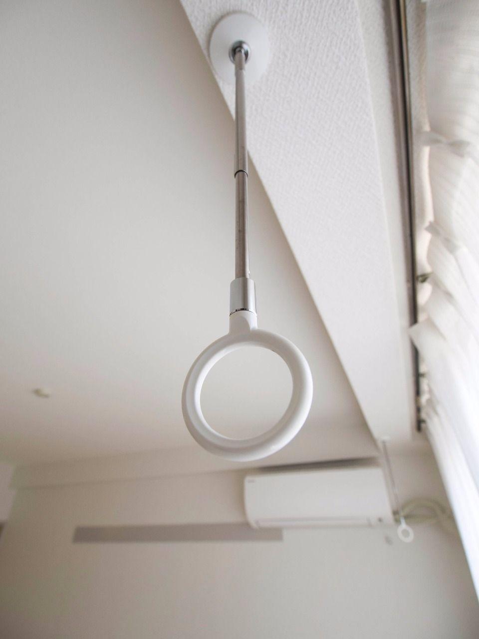 川口技研のホスクリーンは物干し竿を通すと室内干しが可能