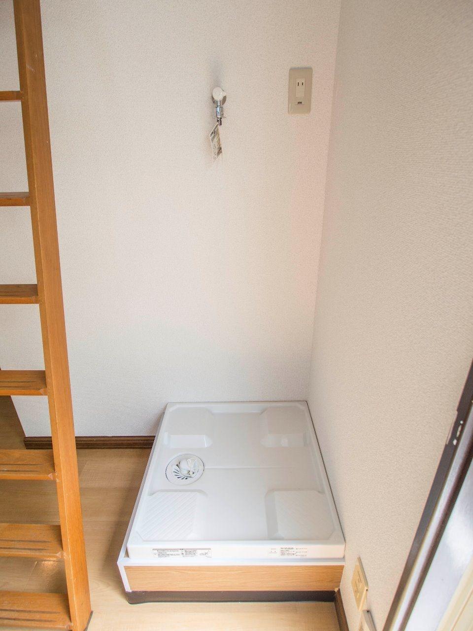 60cm×60cmの防水パンのある洗濯機置場