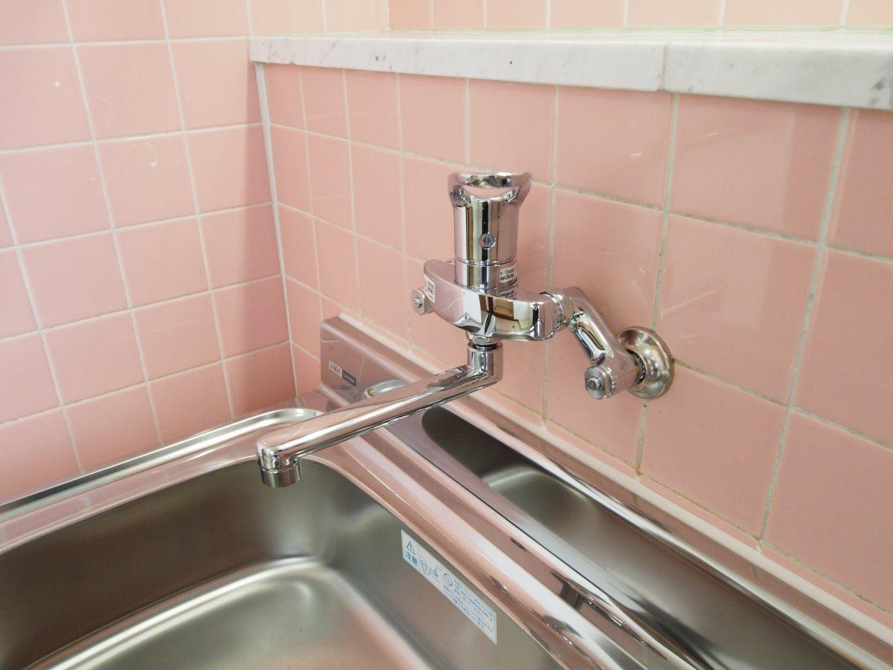 水量や湯水の切替が簡単なワンレバー式水栓