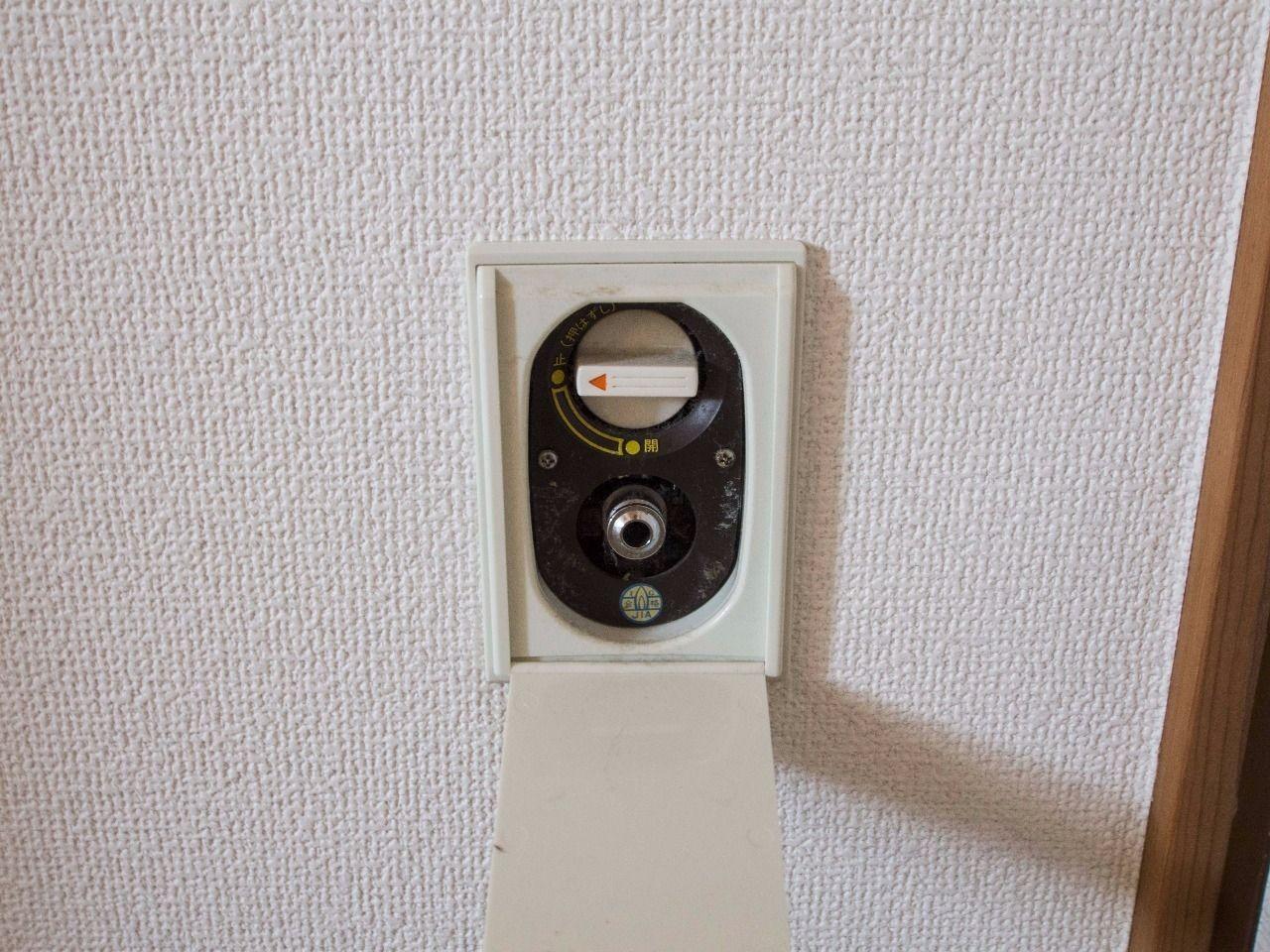 各室にガスヒーターが使えるガス栓を設備