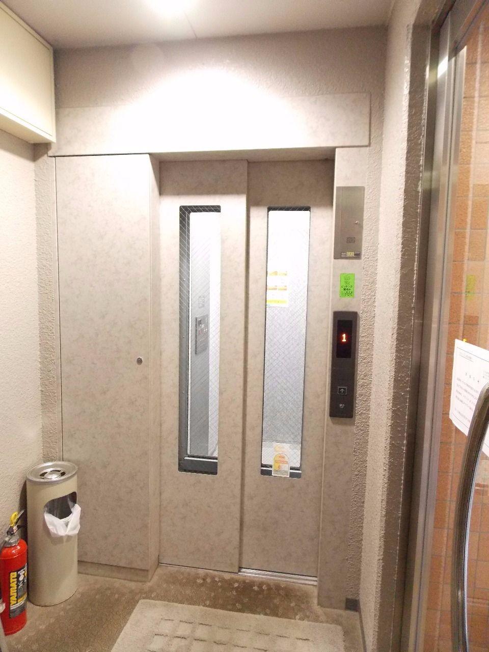 荷物があっても安心なエレベーターあり