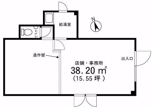 穏やかな地域にある1階路面の貸店舗・事務所の「ハウスK」。周辺には医院や薬局などのある住宅街の入口。士業事務所や営業所に最適です。