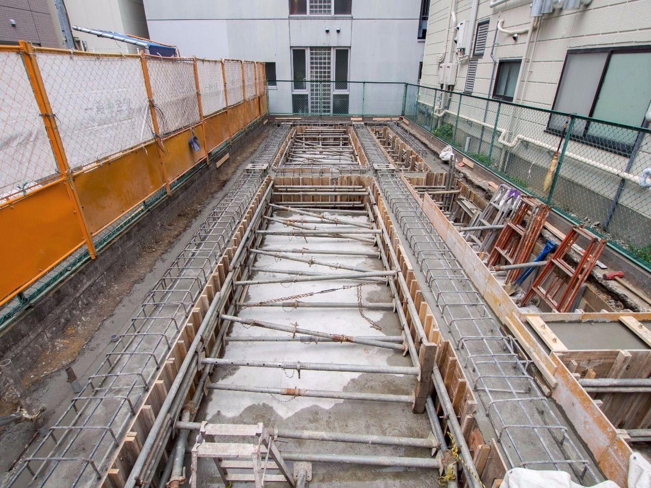 松村第二ビルの基礎工事