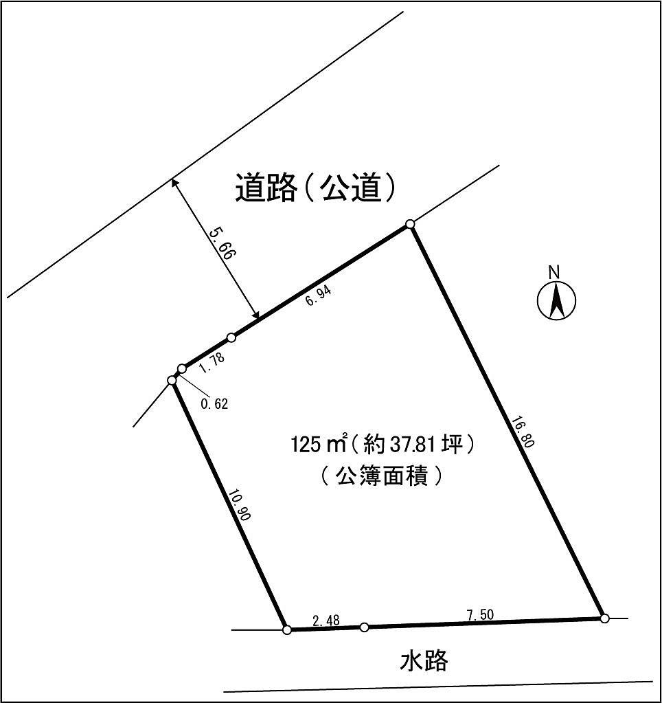 府中市本町三丁目 売地 敷地図