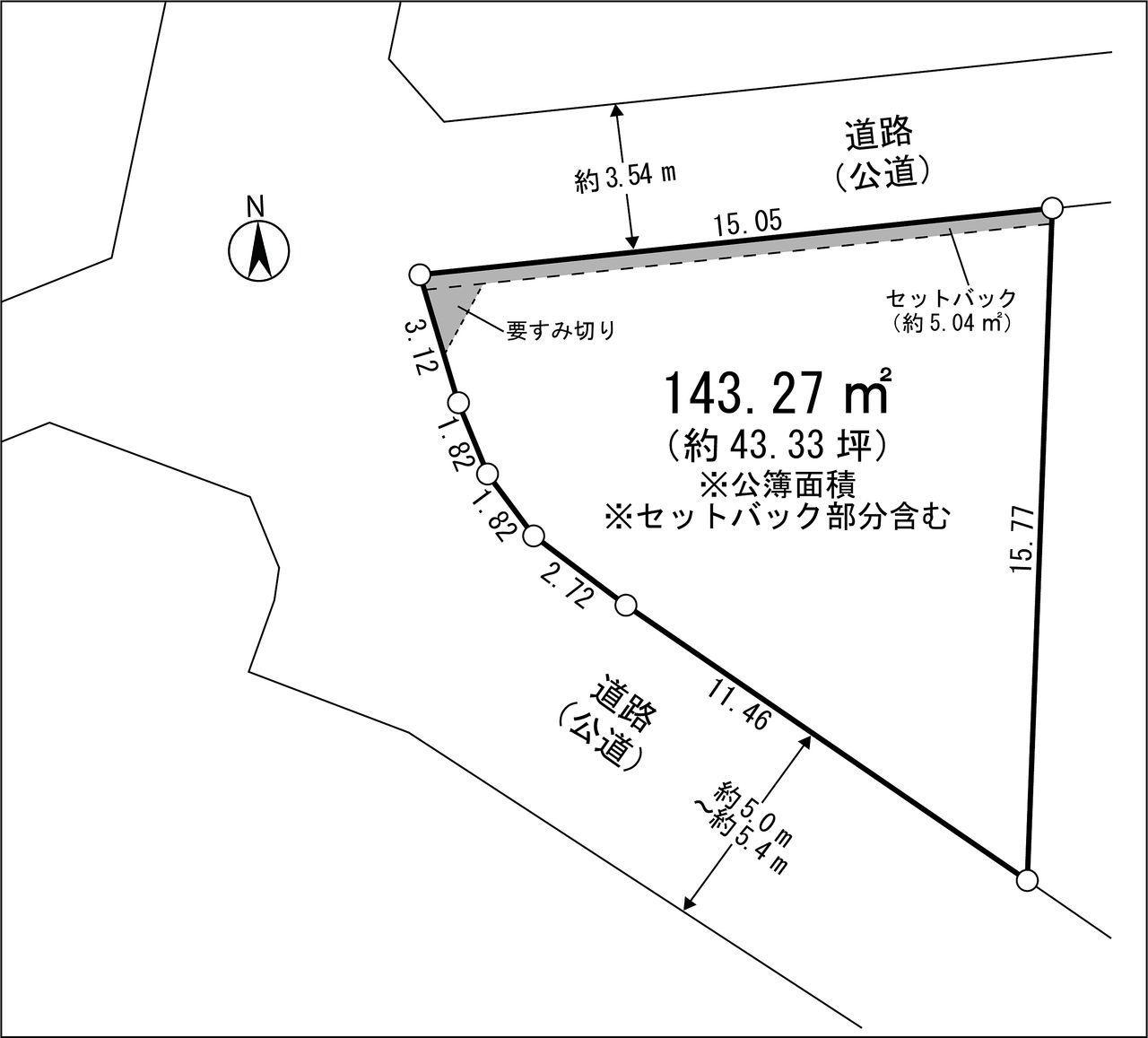 立川市柴崎町4丁目 売地 敷地図