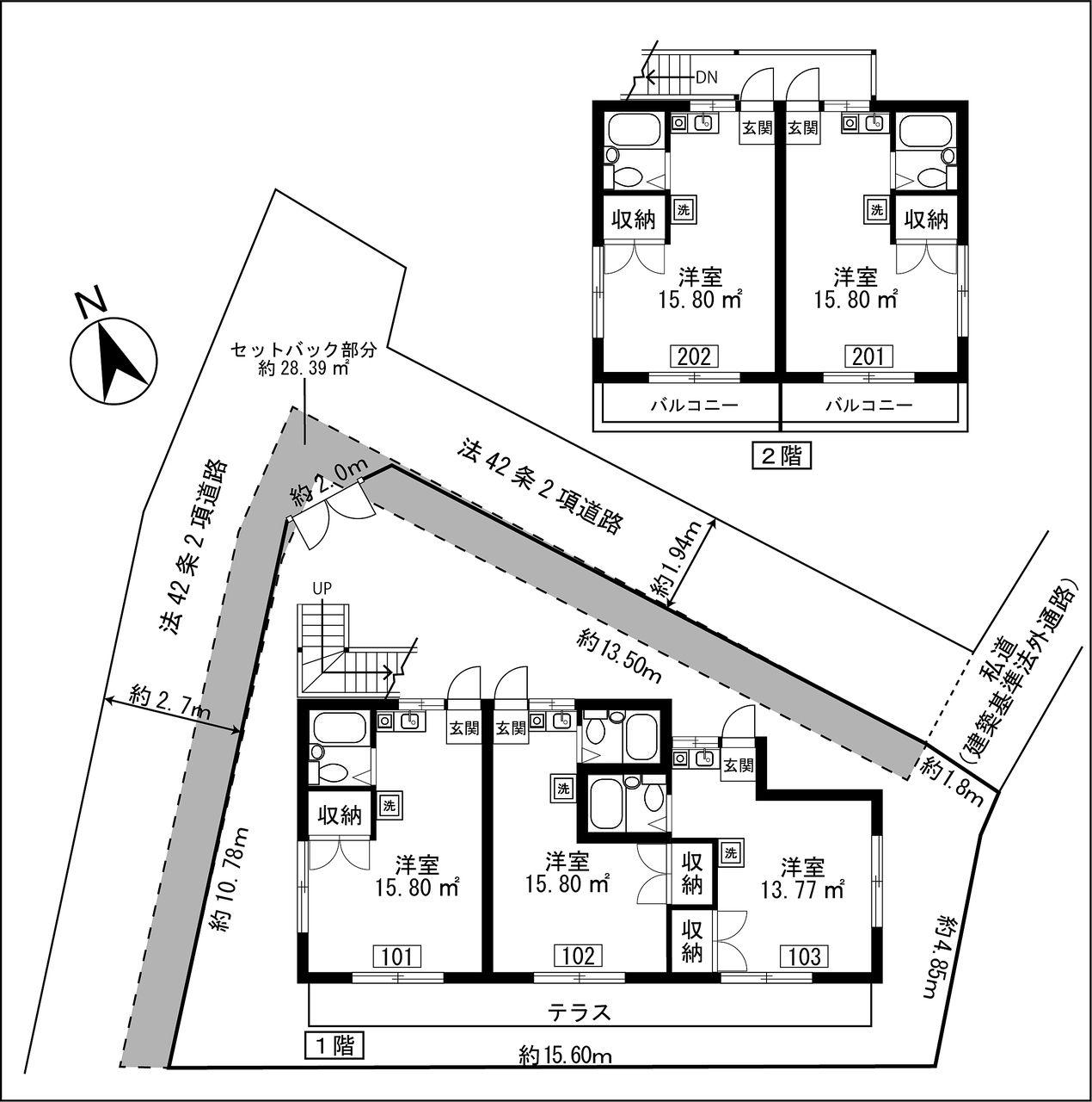 成和の敷地図・間取図