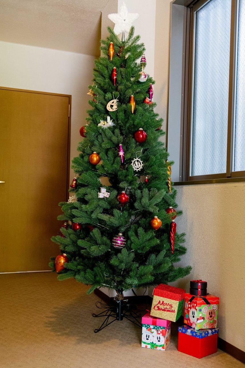 エントランスロビーのクリスマスツリー