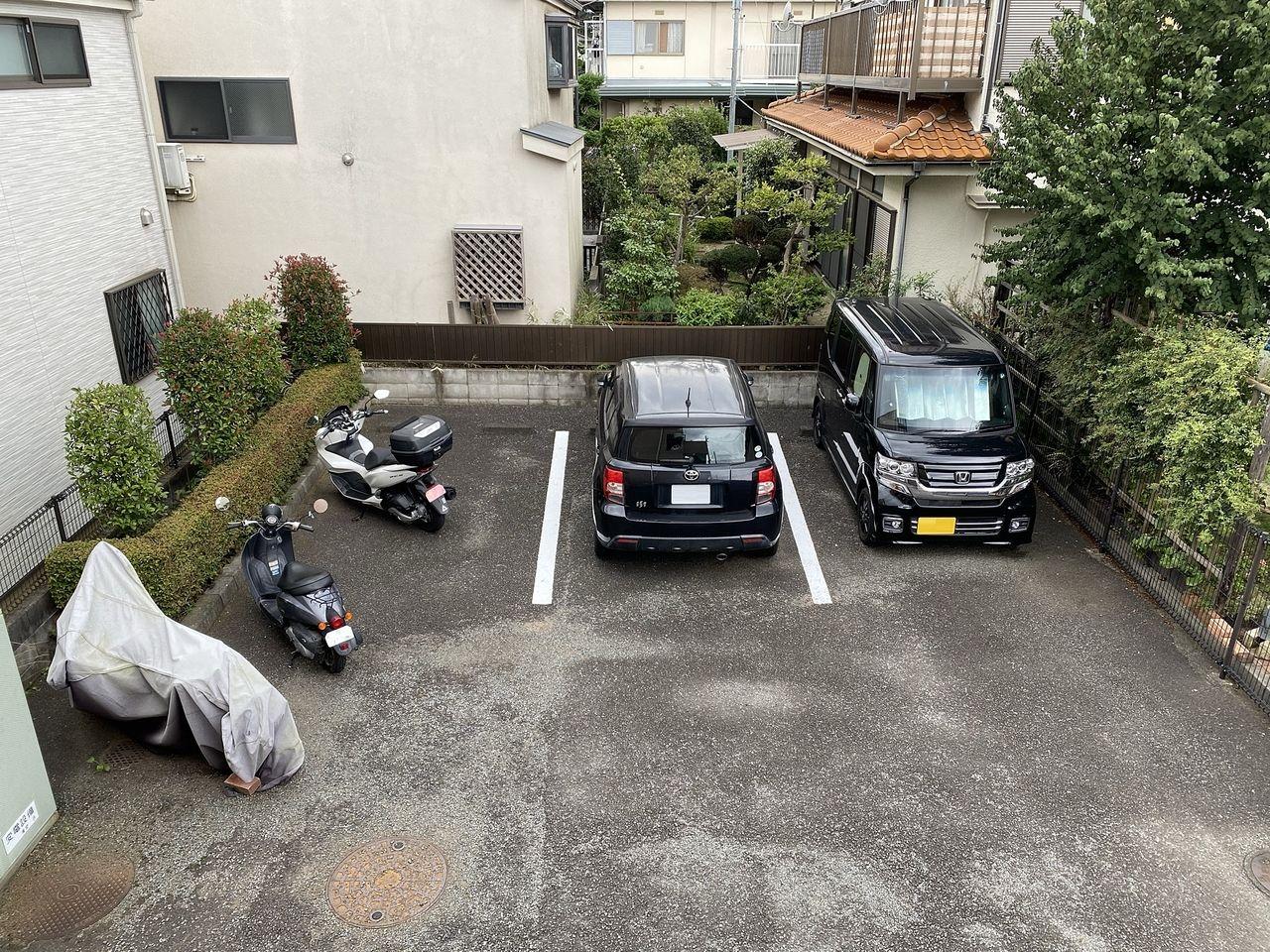 区画線が引かれ駐車しやすくなりました