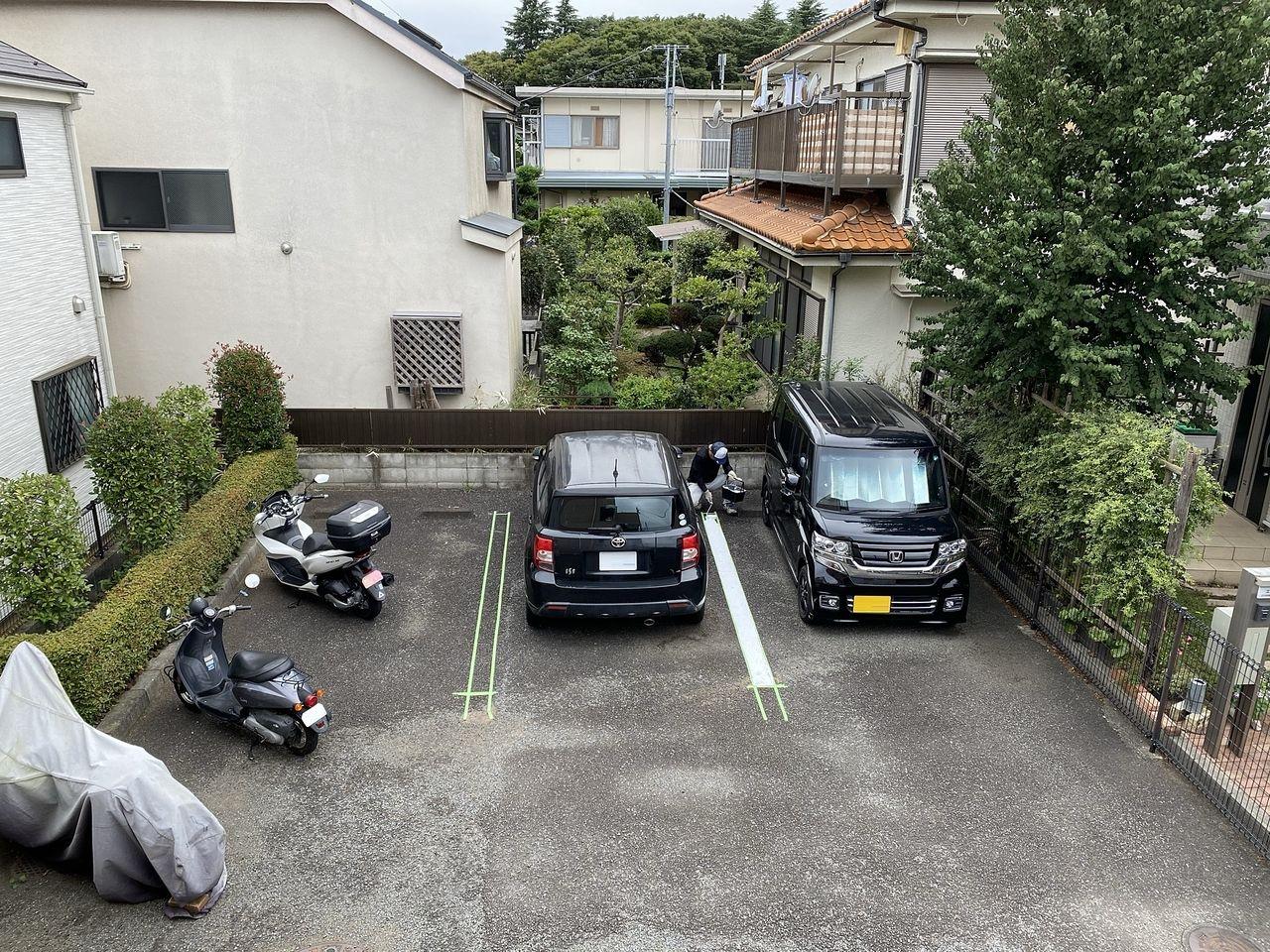 駐車ラインをハッキリと